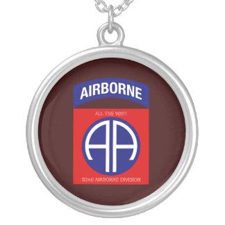 Afdeling de In de lucht van het leger tweeëntachti Zilver Vergulden Ketting