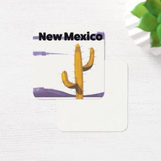 Affiche van de de stijlvakantie van de Cactus van Vierkante Visitekaartjes