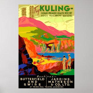 Affiche van de Reis van Kuling de Vintage Chinese Poster