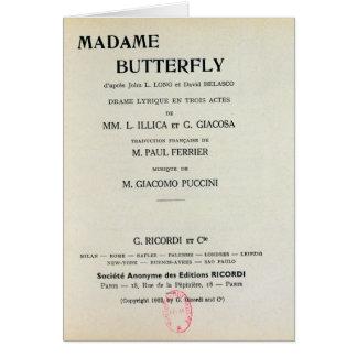 Affiche voor Mevrouw Butterfly door Giacomo Kaart
