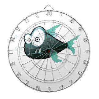 afgeluisterde eyed gekke vissen dartbord