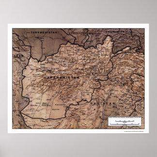 Afghanistan Gedetailleerde Kaart 1999 Poster