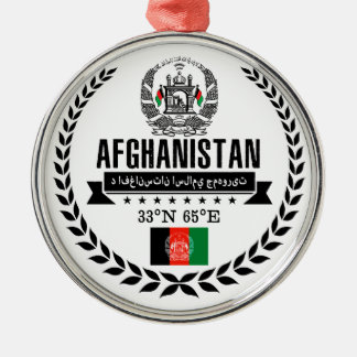 Afghanistan Zilverkleurig Rond Ornament