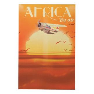 Afrika door de Lucht Hout Afdruk
