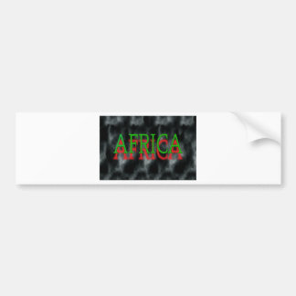 Afrika logo bumpersticker