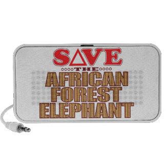 Afrikaan voor Olifant spaart iPod Speakers