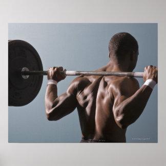 Afrikaans Amerikaans man die gymnastiek 2 Poster
