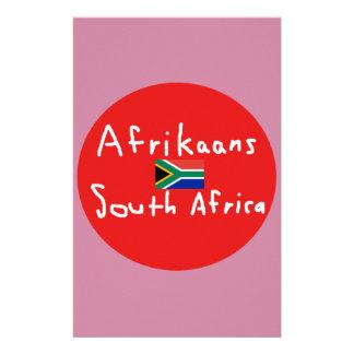 Afrikaans de Taal en de Vlag van Zuid-Afrika Briefpapier