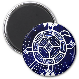 Afrikaans mythisch pictogram, schildpad magneet