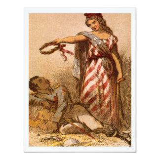 Afrikaanse Amerikaan die - afbeelding 1863 van de 10,8x13,9 Uitnodiging Kaart