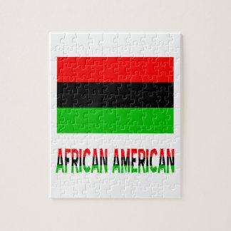 Afrikaanse Amerikaan & Woorden Legpuzzel