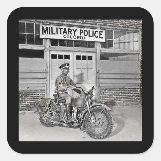 Afrikaanse Amerikaanse Militaire politie Vierkante Sticker