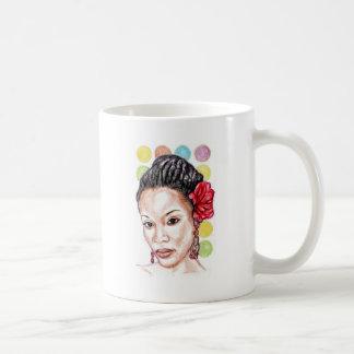 Afrikaanse Amerikaanse Schoonheid Koffiemok