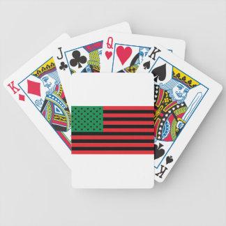 Afrikaanse Amerikaanse Vlag - Rode Zwart en Groen Pak Kaarten