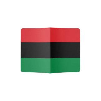 Afrikaanse Amerikaanse Vlag - Rode Zwart en Groen Paspoort Houder