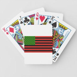 Afrikaanse Amerikaanse Vlag - Rode Zwart en Groen Poker Kaarten
