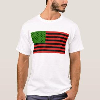 Afrikaanse Amerikaanse Vlag - Rode Zwart en Groen T Shirt