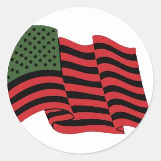 Afrikaanse Amerikaanse Vlag Ronde Sticker