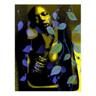 Afrikaanse Dame in Goud Briefkaart