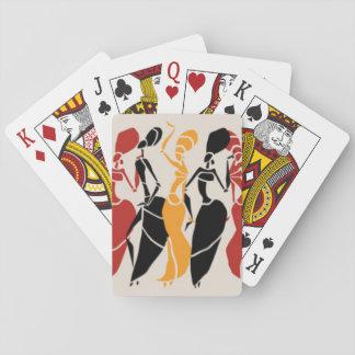 Afrikaanse Dansende Dames Speelkaarten