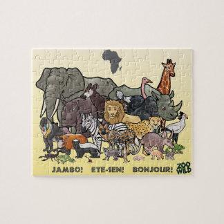 Afrikaanse Dieren - Puzzel Puzzel