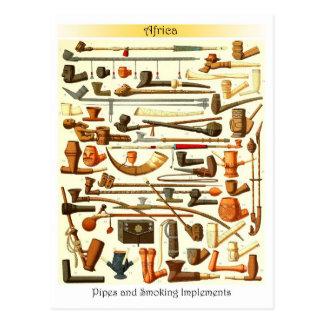 Afrikaanse Pijpen en Rokende Instrumenten Briefkaart