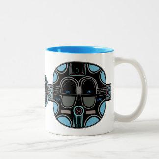 Afrikaanse Pop Tweekleurige Koffiemok