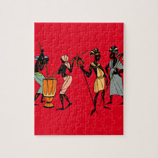 Afrikaanse stammenkunstpuzzel puzzel
