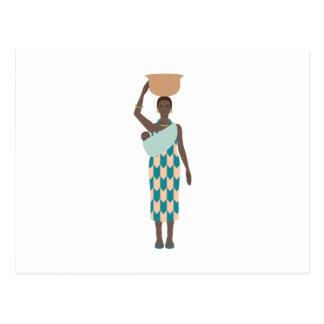 Afrikaanse Vrouw Briefkaart