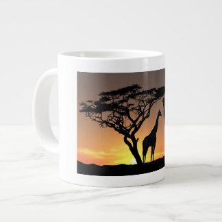 Afrikaanse Zonsondergang - de Mok van de Koffie
