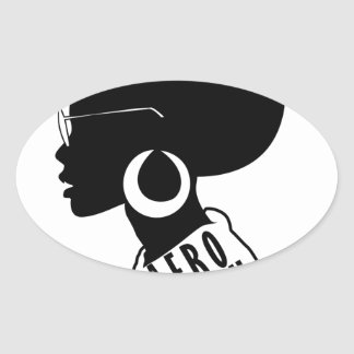 AFRO Afrikaanse Amerikaanse Zwarte giftt-shirt Ovale Sticker
