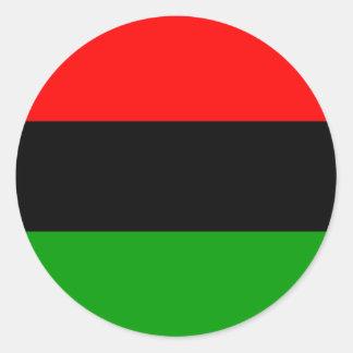 afro Amerikaanse vlag Afro-Amerikaan Ronde Sticker