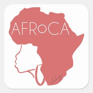 AFROCA. AFRO plus AFRIKA (vrouw) Vierkante Sticker