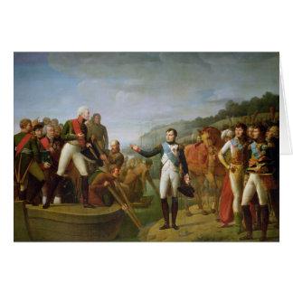 Afscheid van Napoleon I en Alexander I Wenskaart