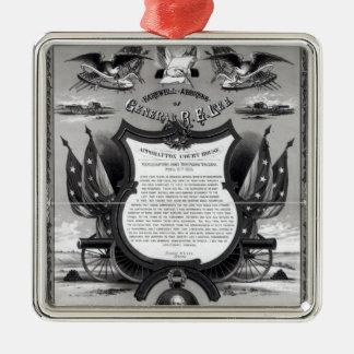 Afscheids Adres van General Robert E. Lee Zilverkleurig Vierkant Ornament