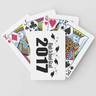 Afstudeerder 2017 van de middelbare school (Zwart) Poker Kaarten