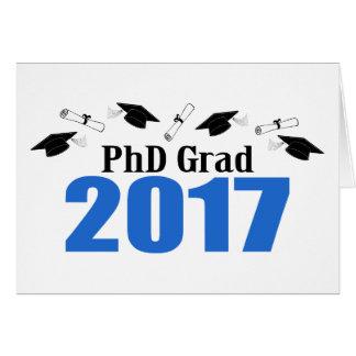 Afstudeerder 2017 van het doctoraat (Blauw) Pet en Wenskaart