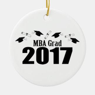 Afstudeerder 2017 van MBA (Zwart) Pet en Diploma's Rond Keramisch Ornament