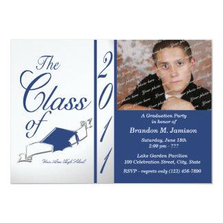 Afstuderen 2011/van de klasse Blauw 12,7x17,8 Uitnodiging Kaart