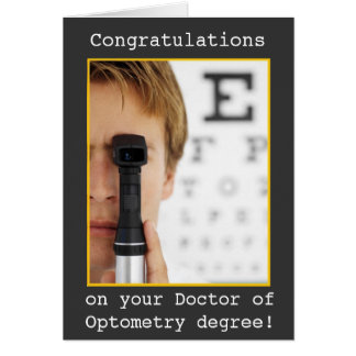 Afstuderen - de Optometrie van de Oogarts Briefkaarten 0