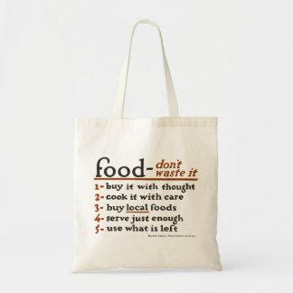 """""""Afval voedsel-Don't het"""" het Canvas tas van de"""