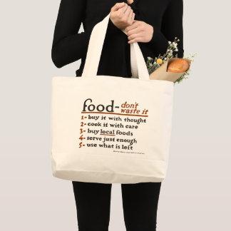 """Afval voedsel-Don't het"" JumboCanvas tas"