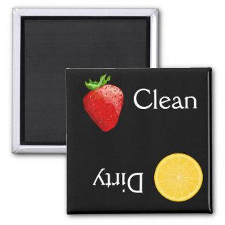 Afwasmachine van het Oranje Fruit van de aardbei d Magneet