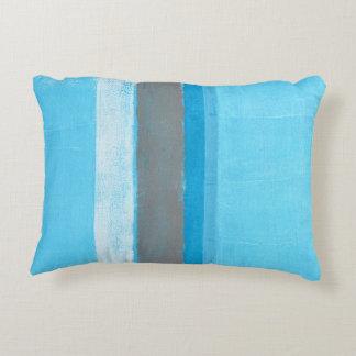 """""""Afwisselend"""" Blauw Abstract Art. Accent Kussen"""
