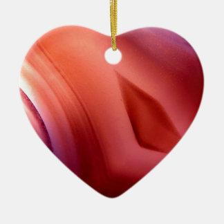 Agaat van steen keramisch hart ornament
