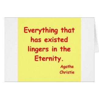 agatha christie eeuwigheid kaart