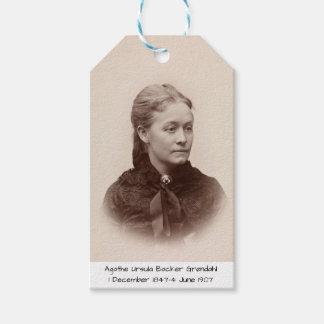 Agathe Ursula Backer Grondahl Cadeaulabel