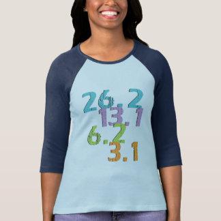 agent afstanden 3.1, 6.2, 13.1 en 26.2 t shirt