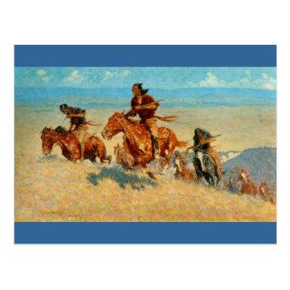 Agenten van de Buffels van Frederic Remington's de Briefkaart