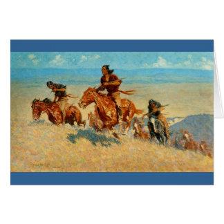 Agenten van de Buffels van Frederic Remington's de Wenskaart